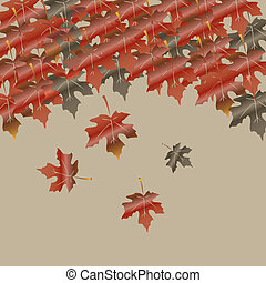 Abstract autumn vector background