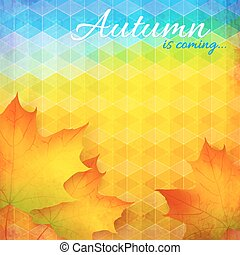 Abstract autumn vector bright background