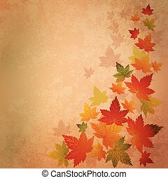 Abstract autumn vintage background