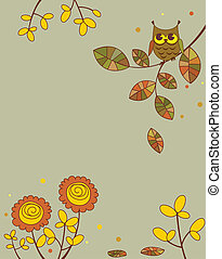 Abstract autumnal banner