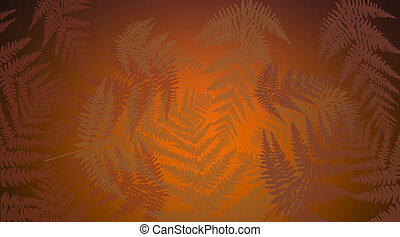 Abstract autumnal leaves.