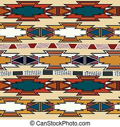 Abstract Aztec seamless. Vector