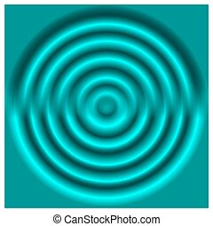 Abstract azure 3D rings. Vector design element.