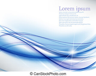 Abstract bacground - Abstract background with blue waves and...