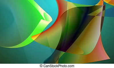 Abstract backdrop in motion