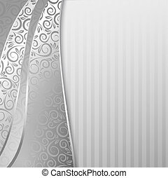 Abstract backdrop with floral elements. Vector illustration...