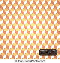 3d cubes gold pattern.