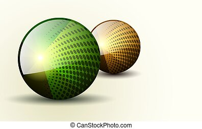 Abstract background 3d spheres