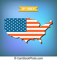 Abstract background 4th July Happy Memorial Day American flag
