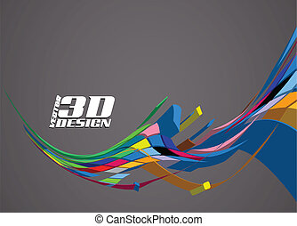 Abstract 3d design background, vector illustration