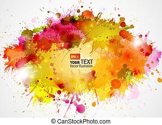 Abstract Background - Abstract artistic Background of autumn...