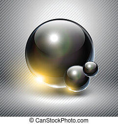 Abstract background. - Abstract background with glass balls,...