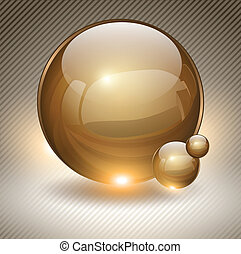 Abstract background. - Abstract background with gold glass ...