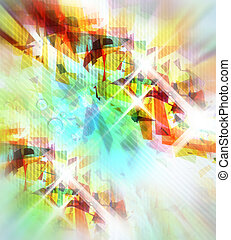 Abstract Background - Abstract illustration with shattered ...