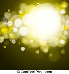 Abstract lighting background, bokeh yellow.