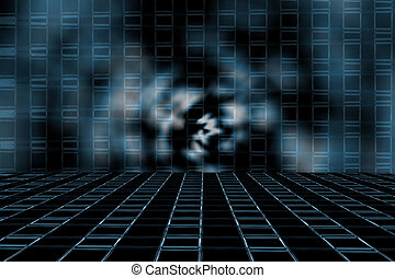 Abstract background - Abstract of the information highway ...
