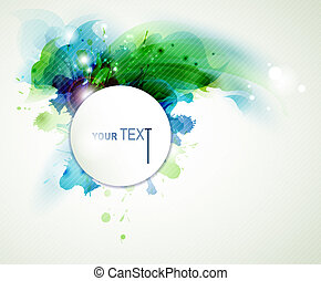 abstract background - Abstract spring background with blue...