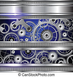 Abstract background - Abstract technology background, silver...