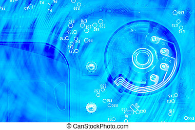 Abstract background and texture of computer electronic circuit board