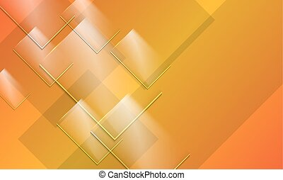 Abstract background and transparent glass panels
