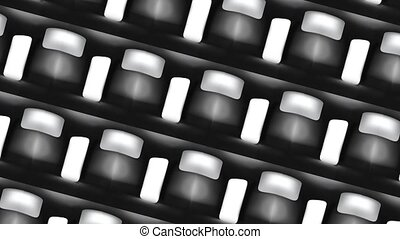 Abstract background animation of geometric shapes HD