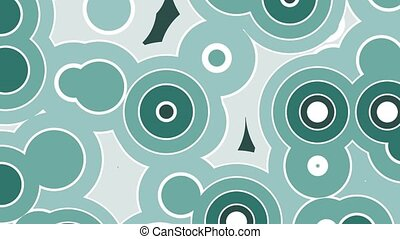 Abstract background animation of moving round shapes pattern. Seamless loop animated background, wallpaper.