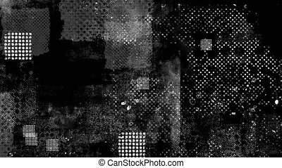 Abstract background animation with black and white stripes and geometric shapes quickly changing images