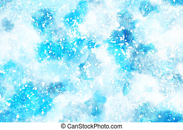 abstract background art snow winter blue wallpaper