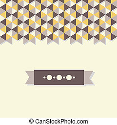 abstract background banner of hexagon