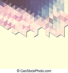 abstract background banner of triangles
