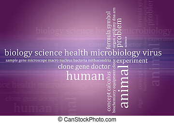 Abstract background biology theme