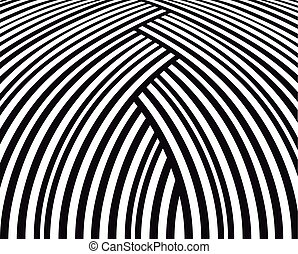 Abstract background. Black and white curve lines.