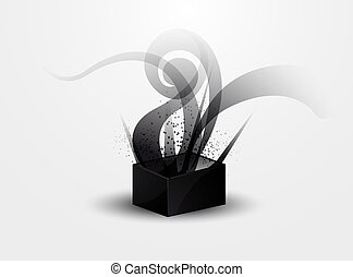 abstract background - black smoke pattern in Pandora's box