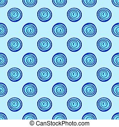 Abstract background blue circles seamless pattern