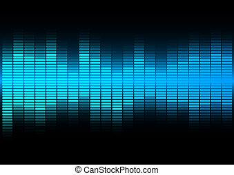 Blue Equalizer - Abstract Background - Blue Equalizer on...