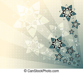 abstract background, blue flowers