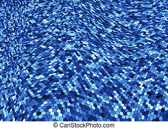 background blue hexagons wave
