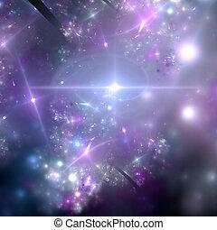 Abstract background. Blue - purple palette. Raster fractal...