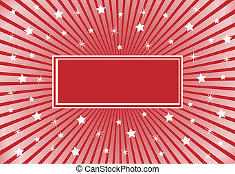 Abstract Background Burgundy Red with White Stars