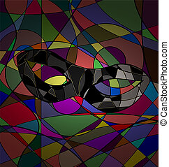 abstract background carnival mask