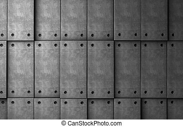 Abstract background cement blocks in gray toned
