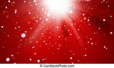 Abstract background Chinese art style with particle and blossom flower falling and lighting