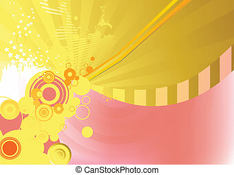 abstract background - Circle background. Illustration of...