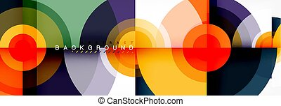 Abstract background circle design