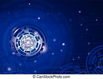 Abstract background circuit connection concept dot element