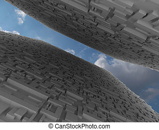 abstract background city concept. 3d rendred illustration
