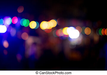 Abstract background city lights at night