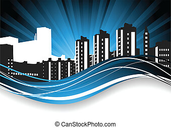 Abstract background. Cityscape
