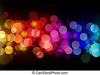 abstract background - Vector illustration of blurred neon...