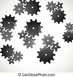abstract background: cogwheel